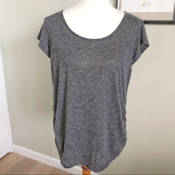 58ba09330b541 H&M Tops   Hm Mama Maternity Gray Blouse Tshirt Size L   Poshmark